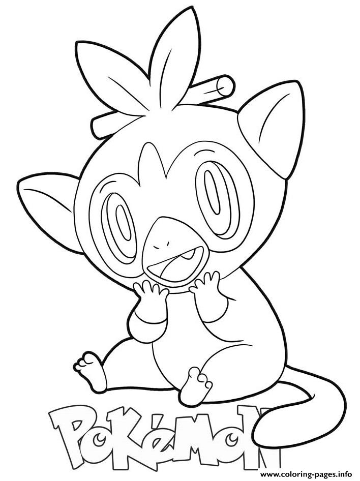 Grookey Pokemon coloring pages