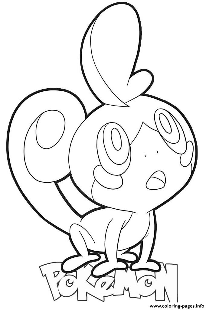 Sobble Pokemon Coloring Pages Printable