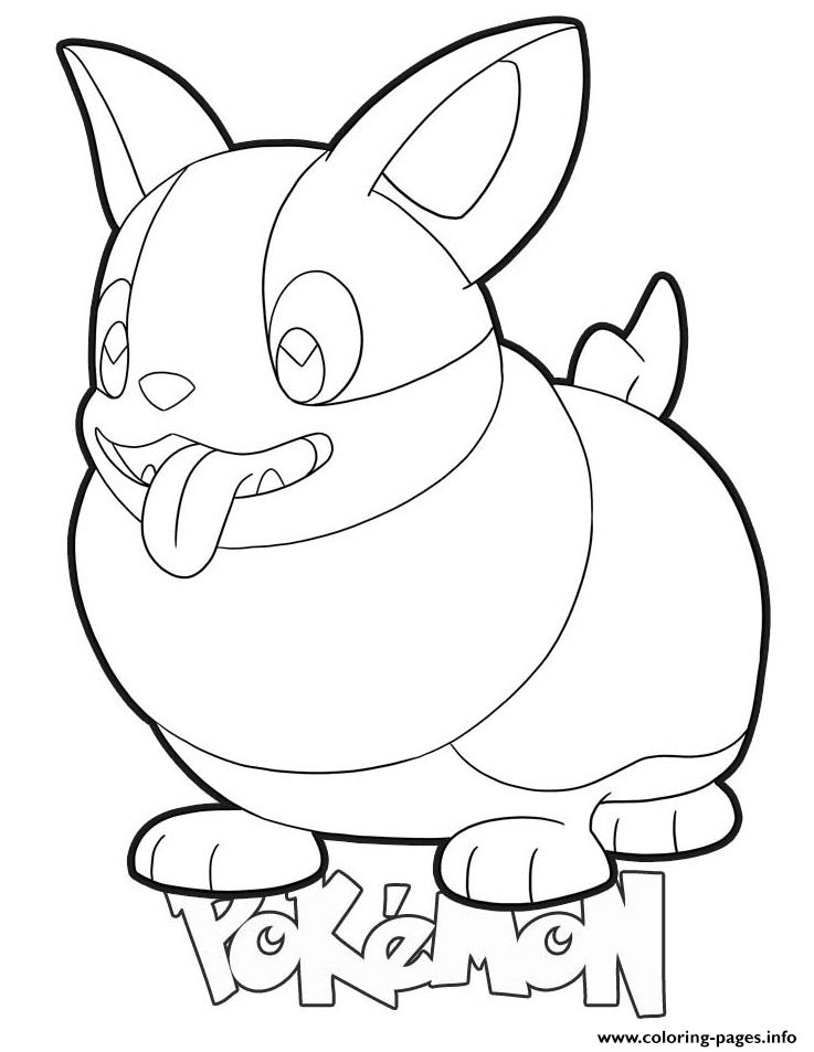 Yamper Pokemon Coloring Pages Printable