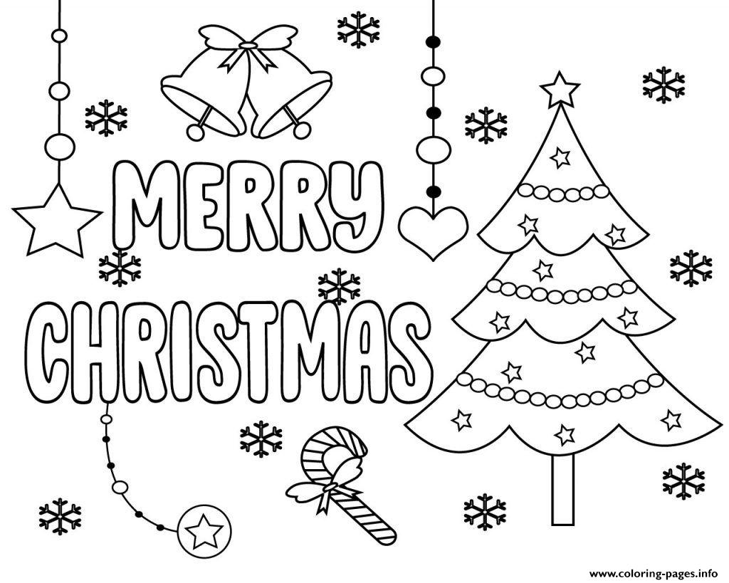 Merry Christmas Tree Light 25 December coloring pages