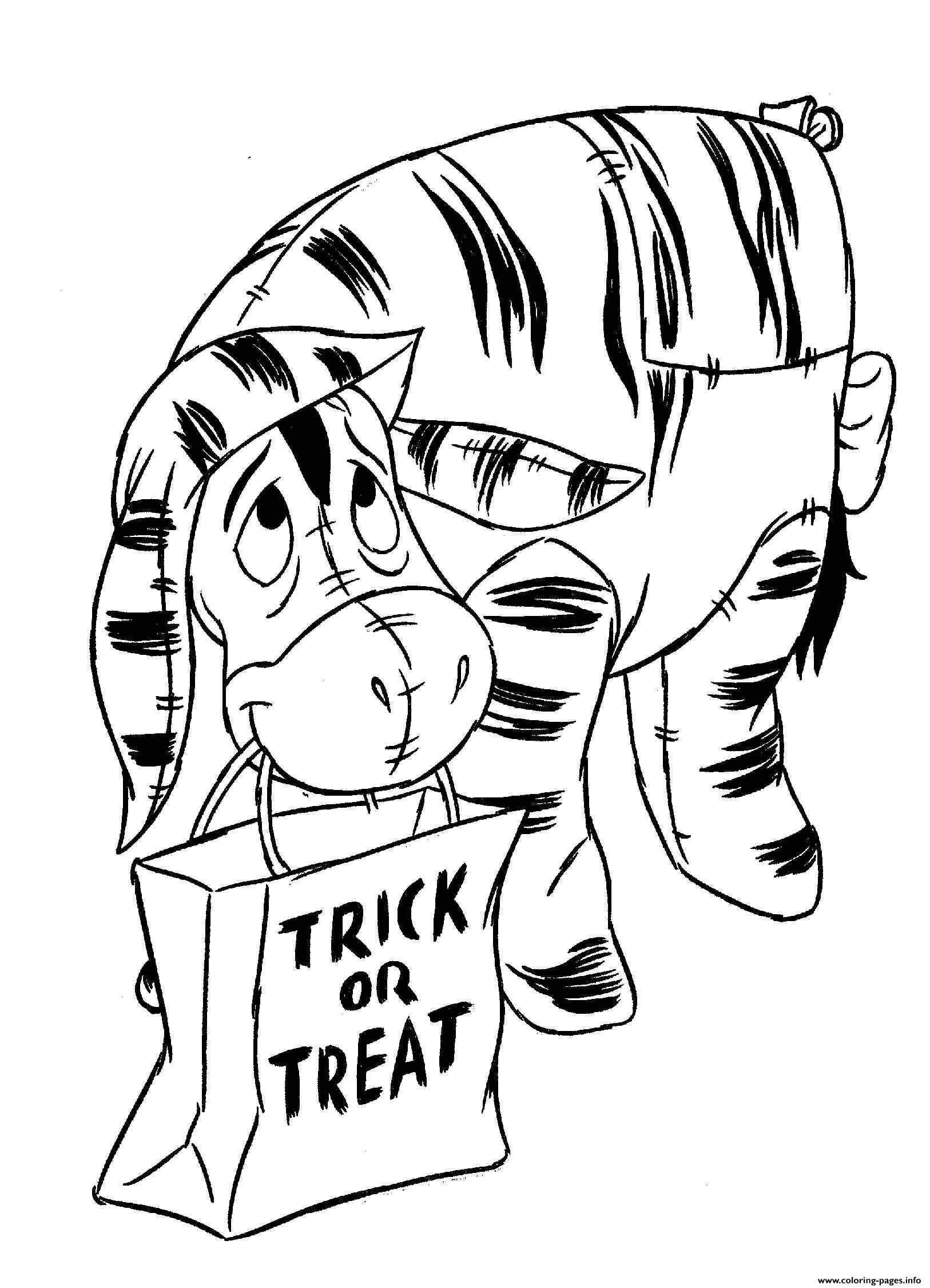 Winnie The Pooh Halloween Trick Or Treat Coloring Pages ...