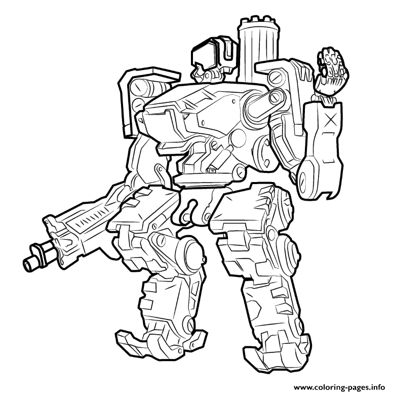 Overwatch Bastion coloring pages