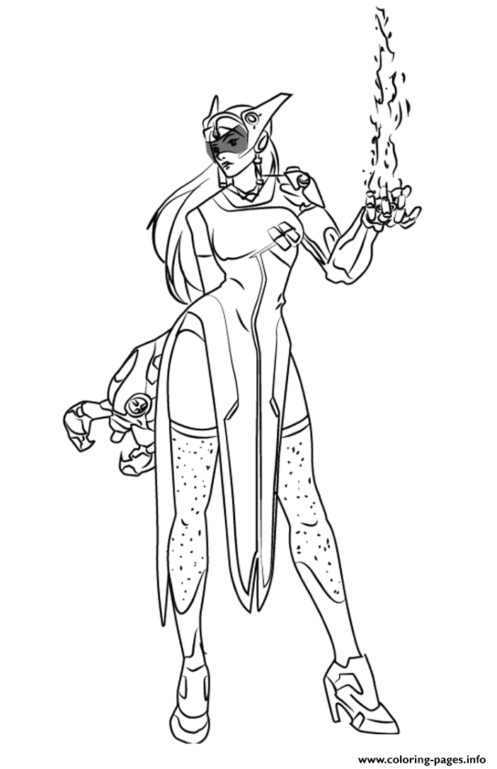 Overwatch Symmetra Photon Projector coloring pages