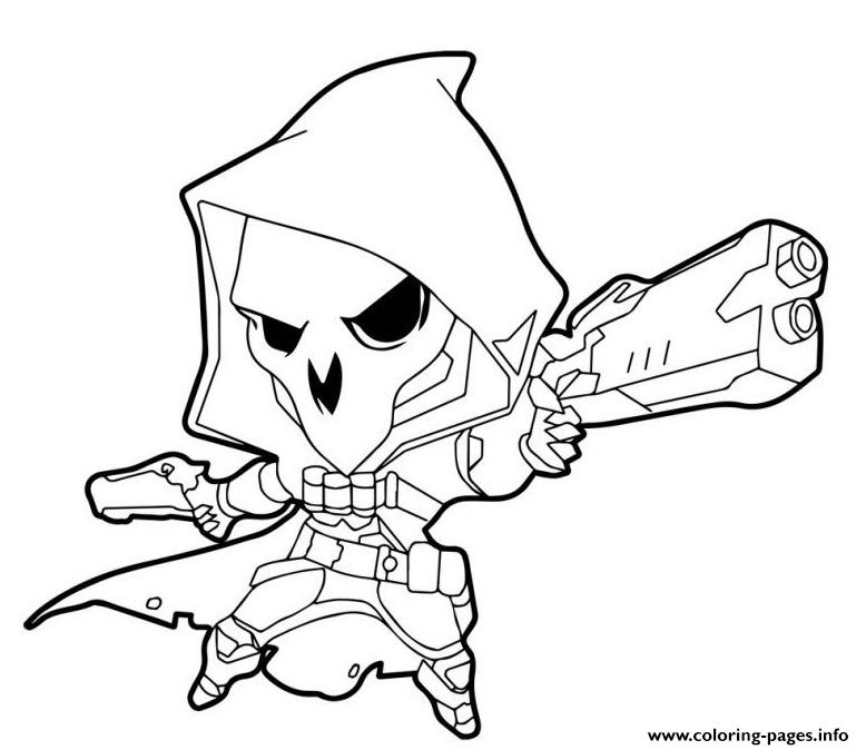 Overwatch Reaper Cute coloring pages