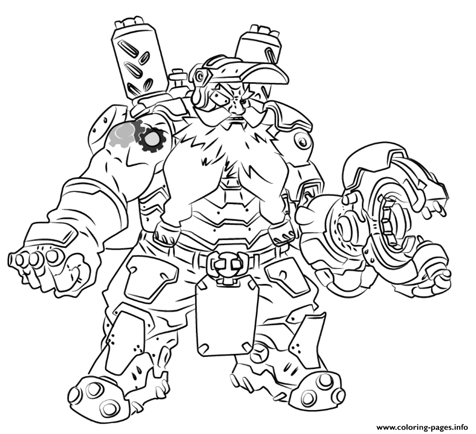 Overwatch Torbjorn Coloring Pages Printable
