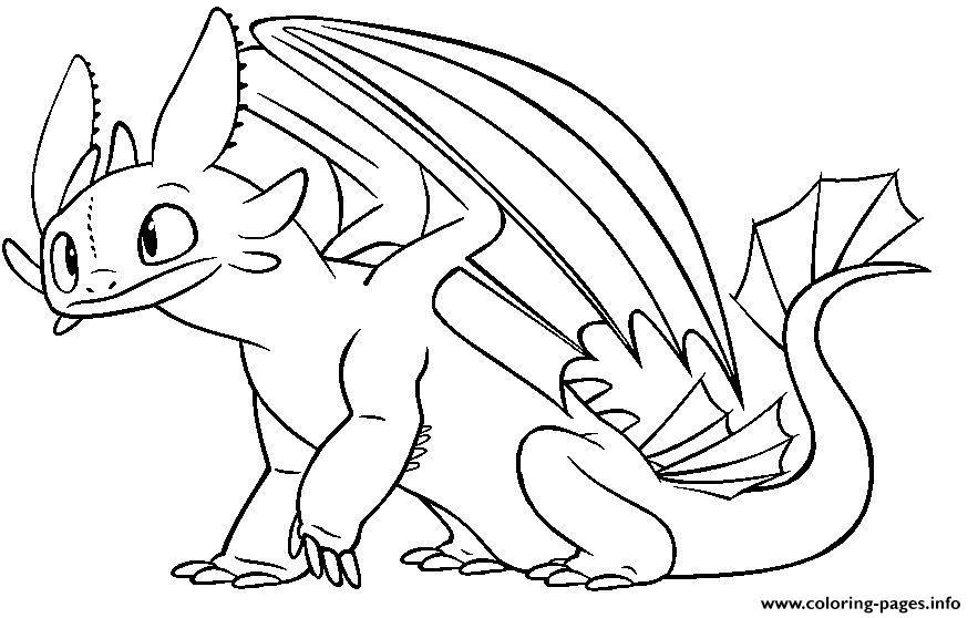 - Toothless Night Fury Dragon Coloring Pages Printable