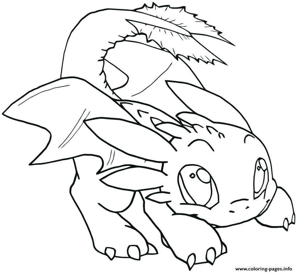- Night Fury Baby Toothless Dragon Coloring Pages Printable