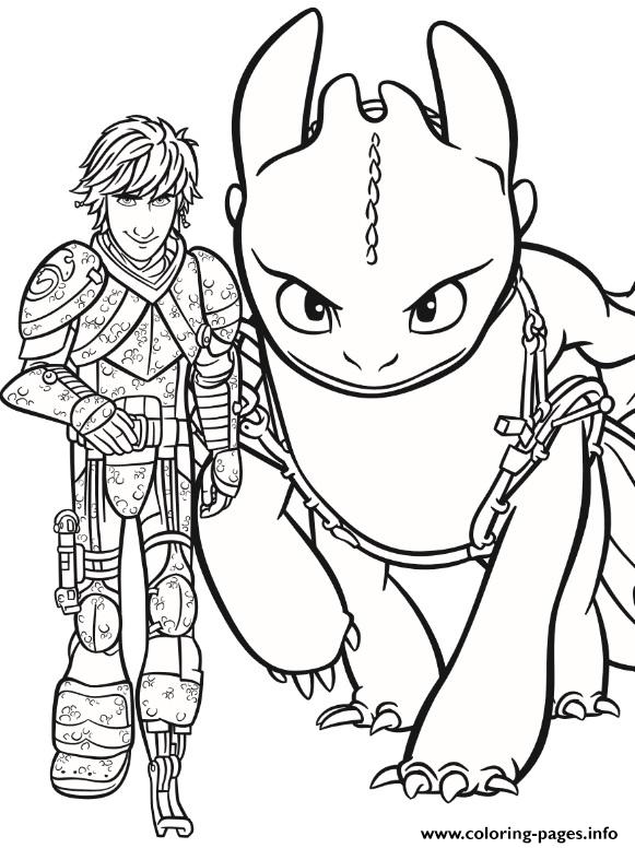 - Pin Hiccup And Toothless Coloring Pages Printable