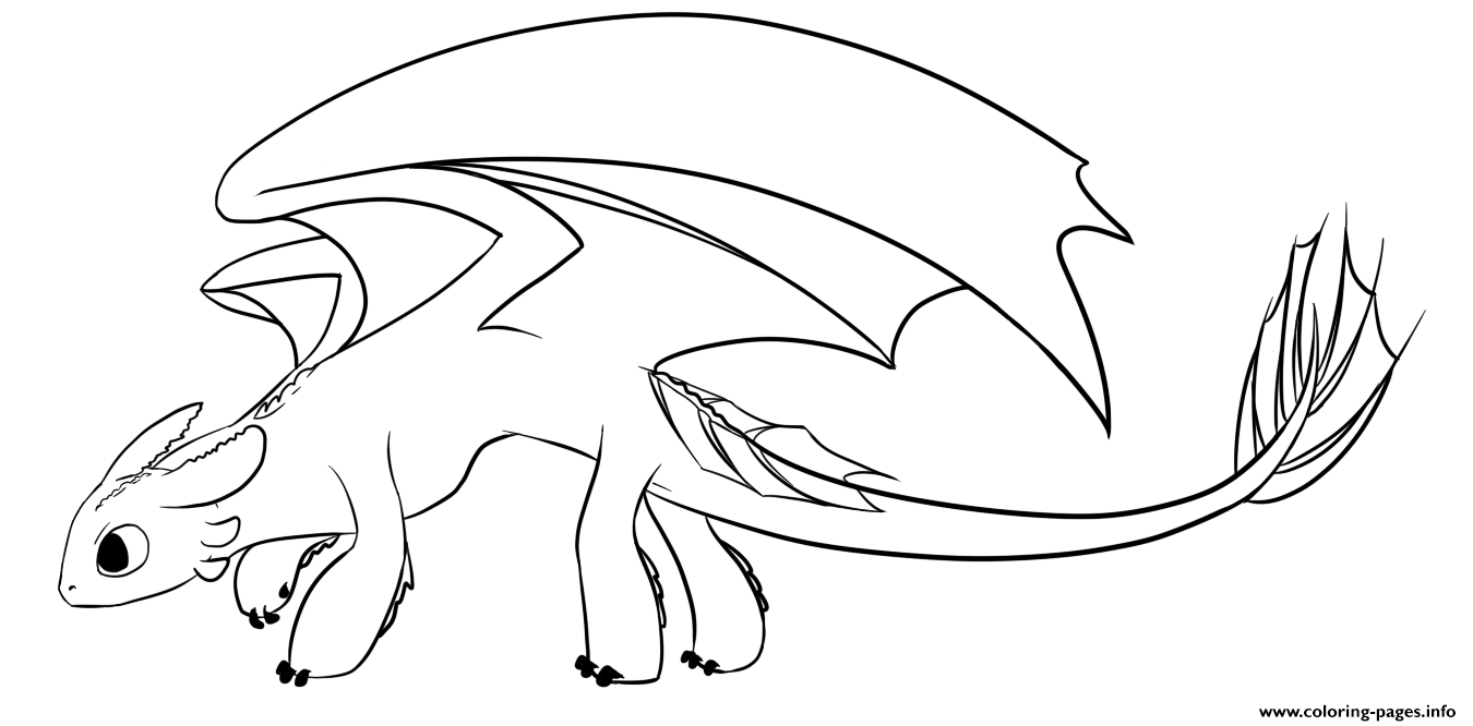 - Toothless The Only Night Fury Seen Coloring Pages Printable