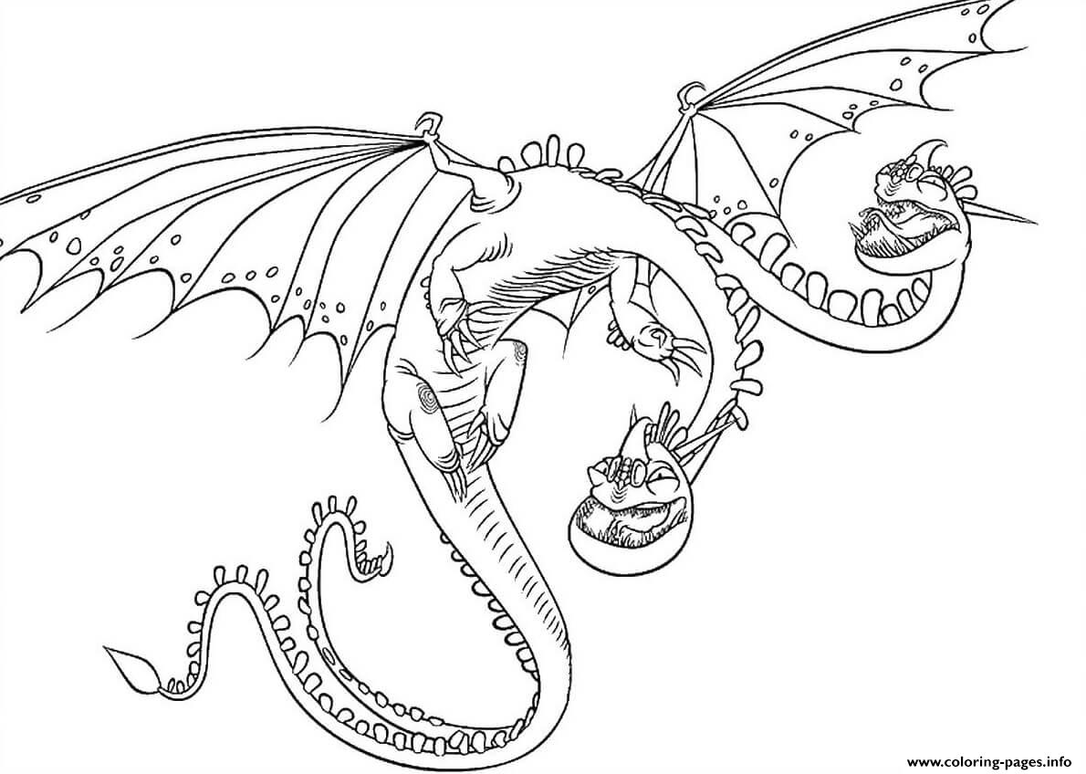Barf Belch Dragon coloring pages