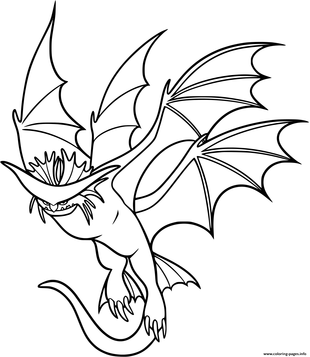 Cloudjumper Dragon coloring pages