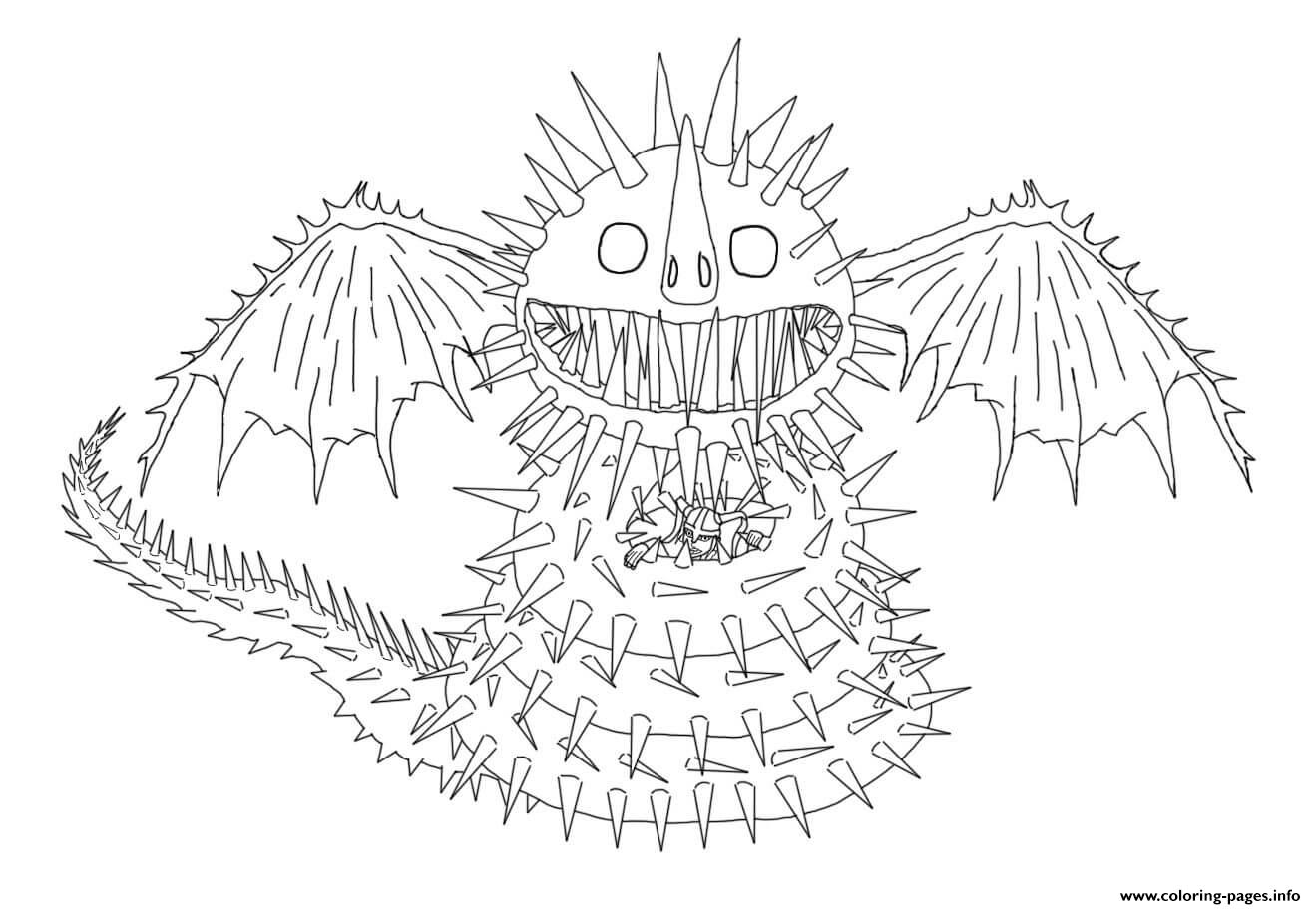 Whispering Death Dragon coloring pages