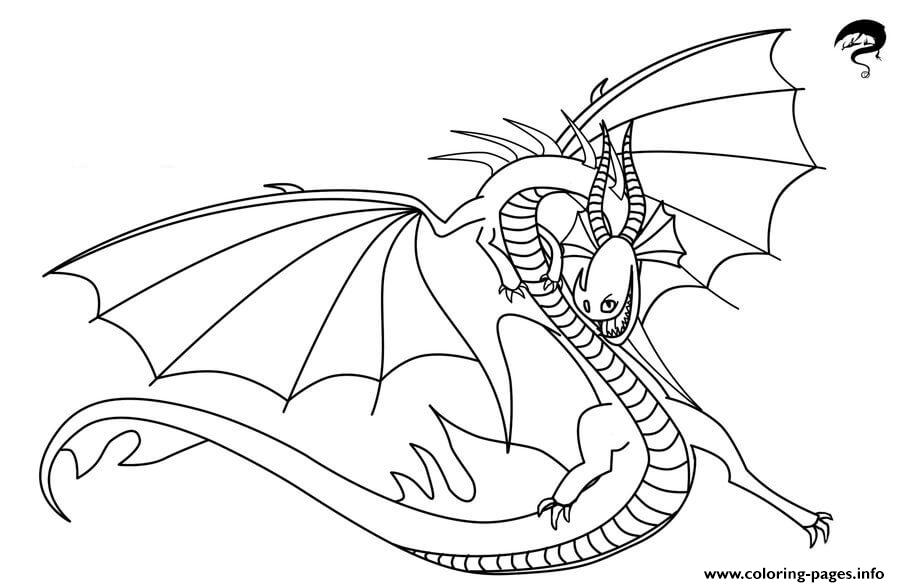 Death Song Dragon Coloring Pages Printable