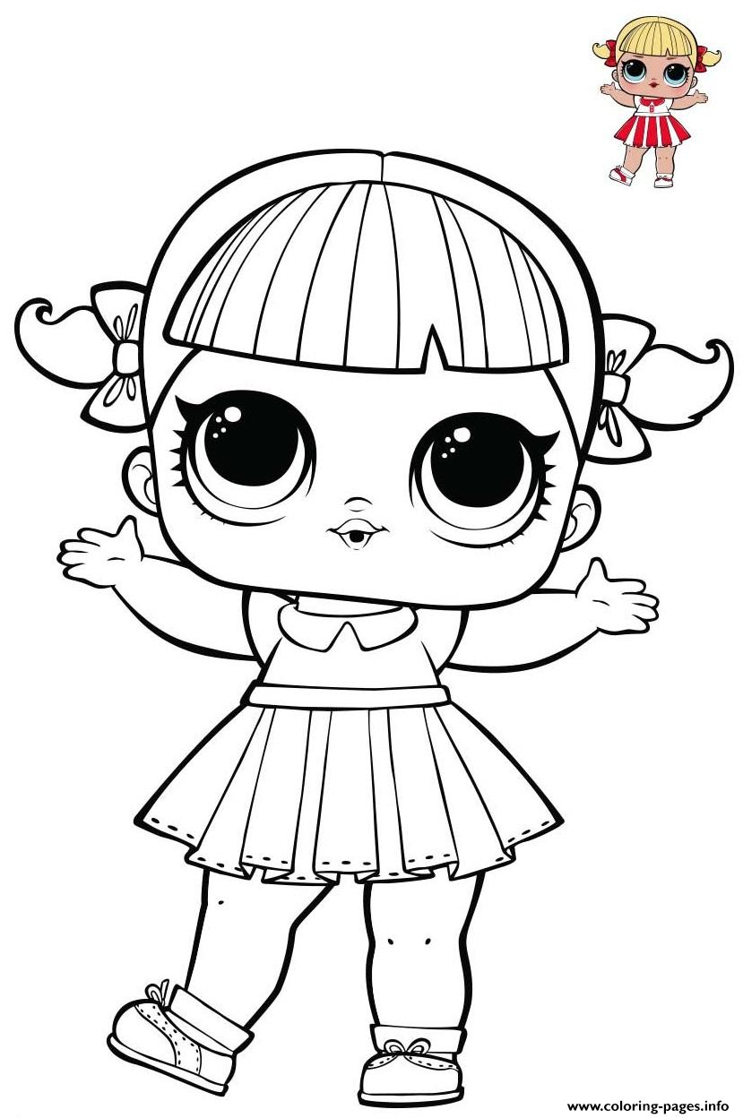 Cheer Captain Lol From Series 1 Spirit Club Coloring Pages Printable