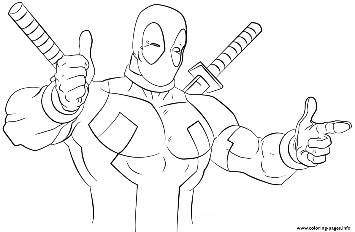 - Deadpool Funny Guy Coloring Pages Printable