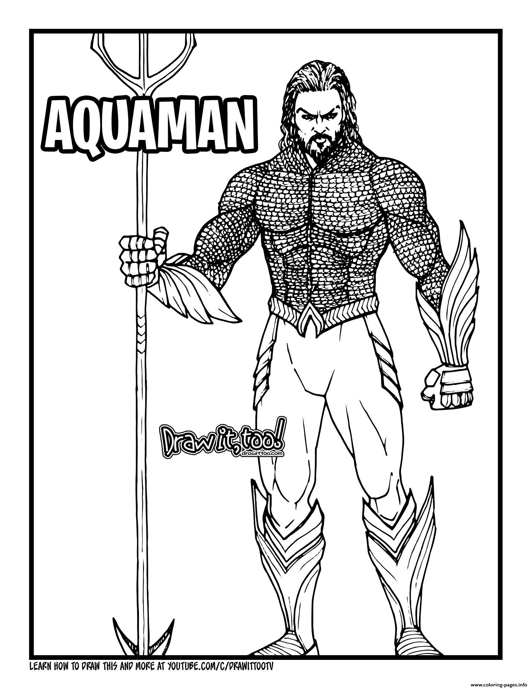 Aquaman Joseph Jason Namakaeha Momoa Coloring Pages Printable