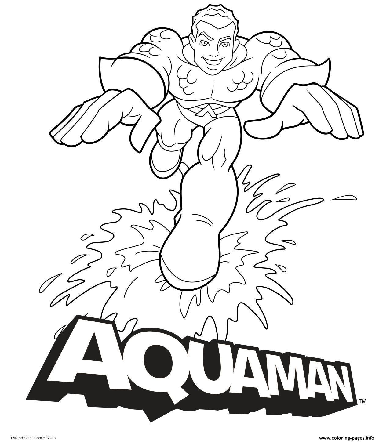 Aquaman free coloring pages and images to print – Colorpages.org | 1448x1241