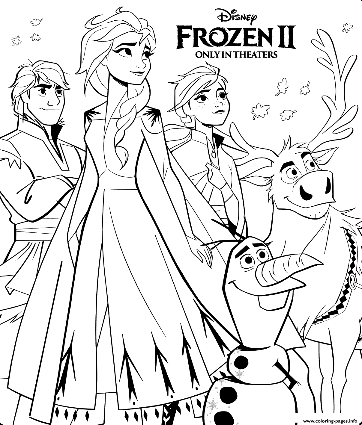Disney Frozen 2 Coloring Pages Printable