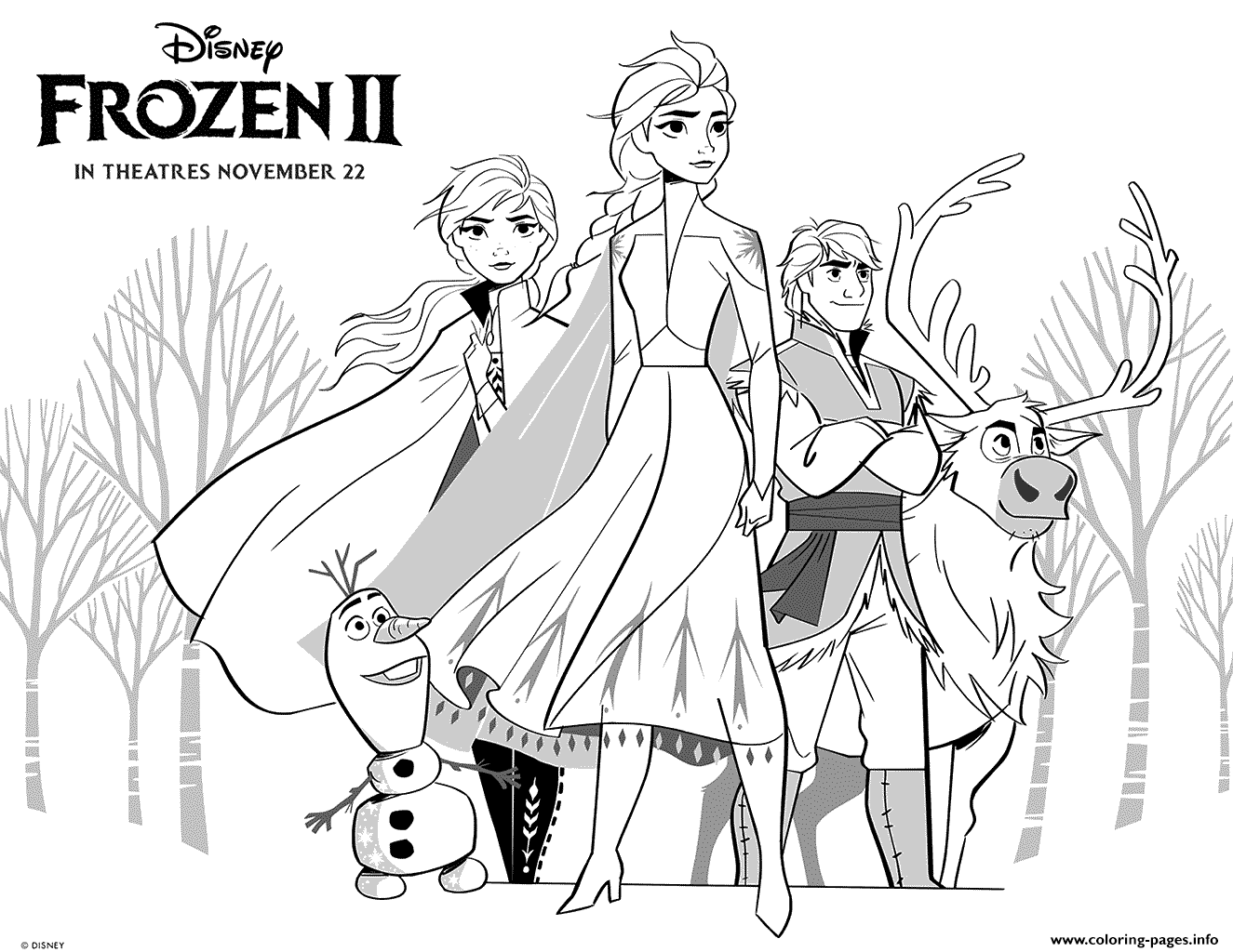 - Frozen 2 Princess Girls Coloring Pages Printable