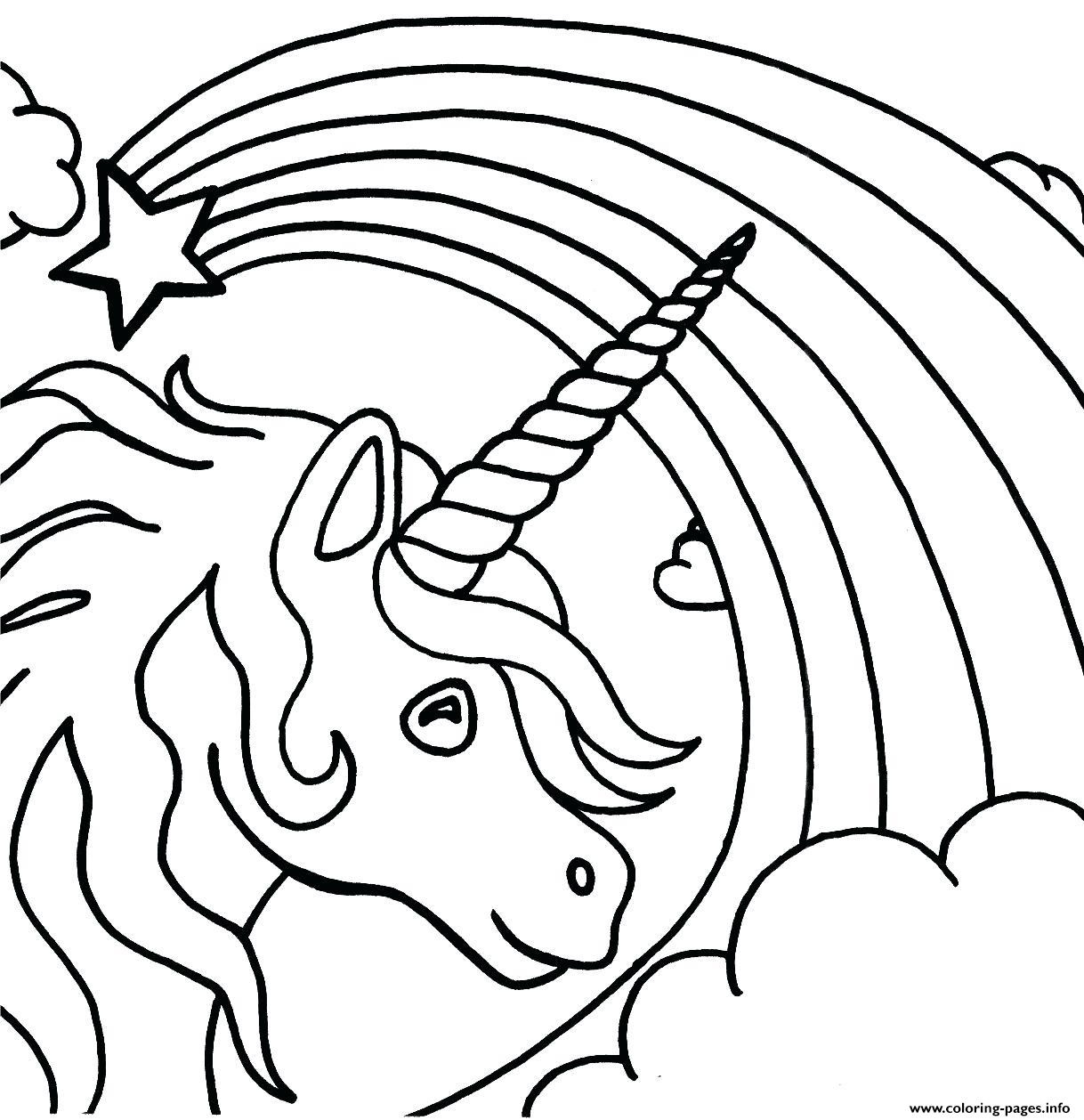 Unicorn Rainbow Teenagers Coloring Pages Printable