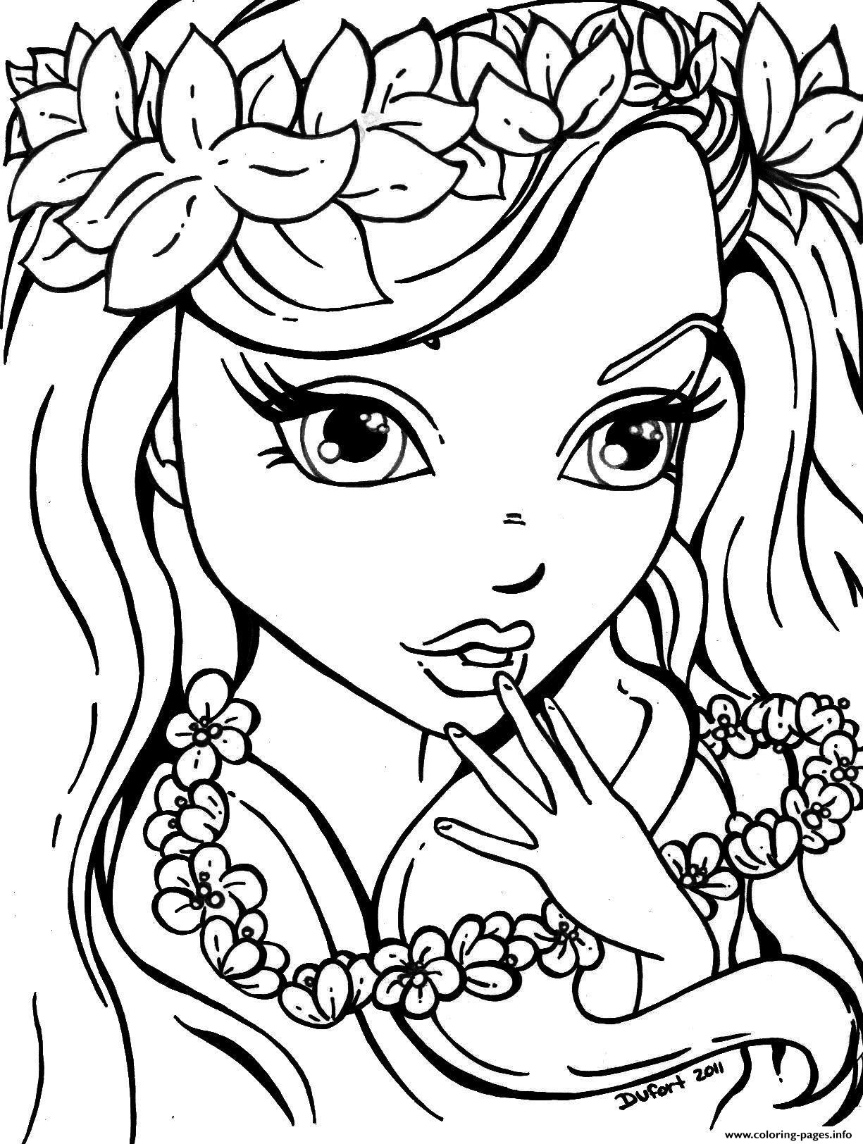 Cute Girls For Teens Coloring Pages Printable