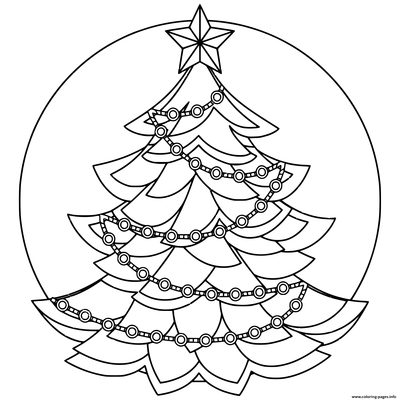 Black And White Christmas Tree Holiday coloring pages