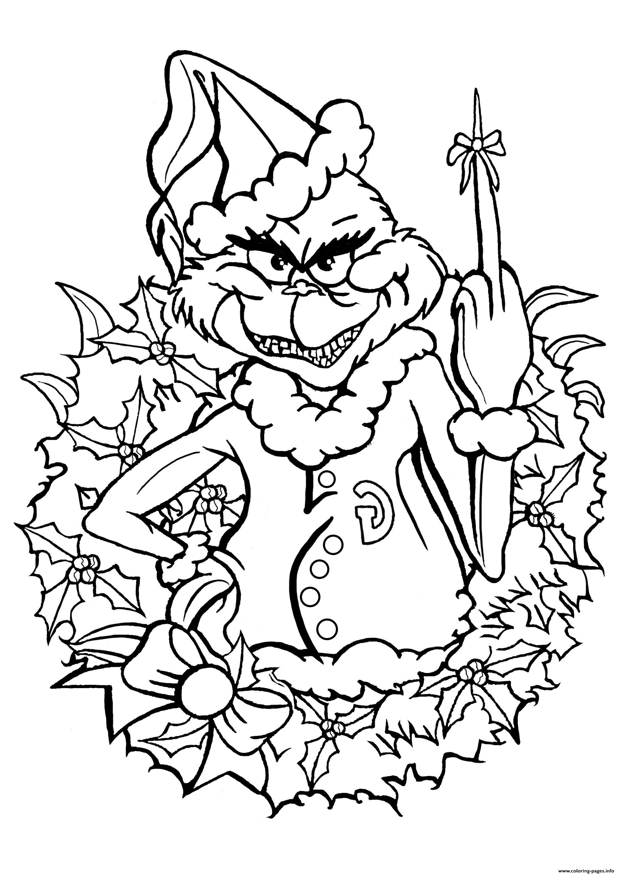 Dr Seuss How The Grinch Stole Christmas Coloring Pages ...
