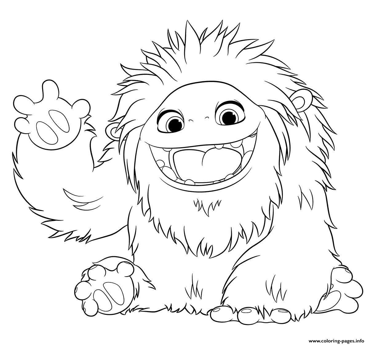 Abominable Yeti Kids Animation Coloring Pages Printable