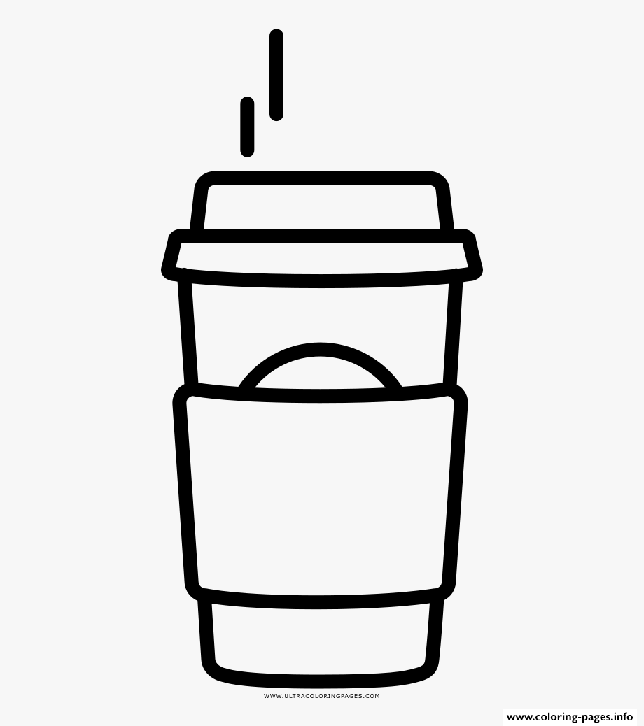 Coffee Starbucks Coloring Pages Printable