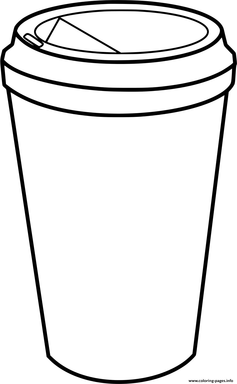 Cup Mug Coffee Starbucks Coloring Pages Printable
