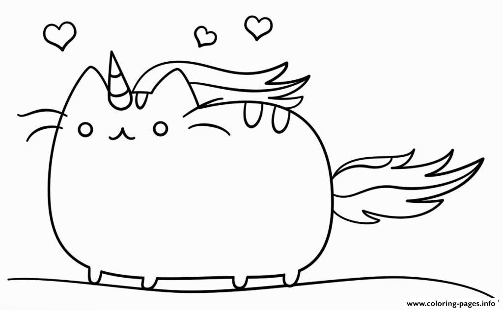 Unicat Unicorn Animal coloring pages