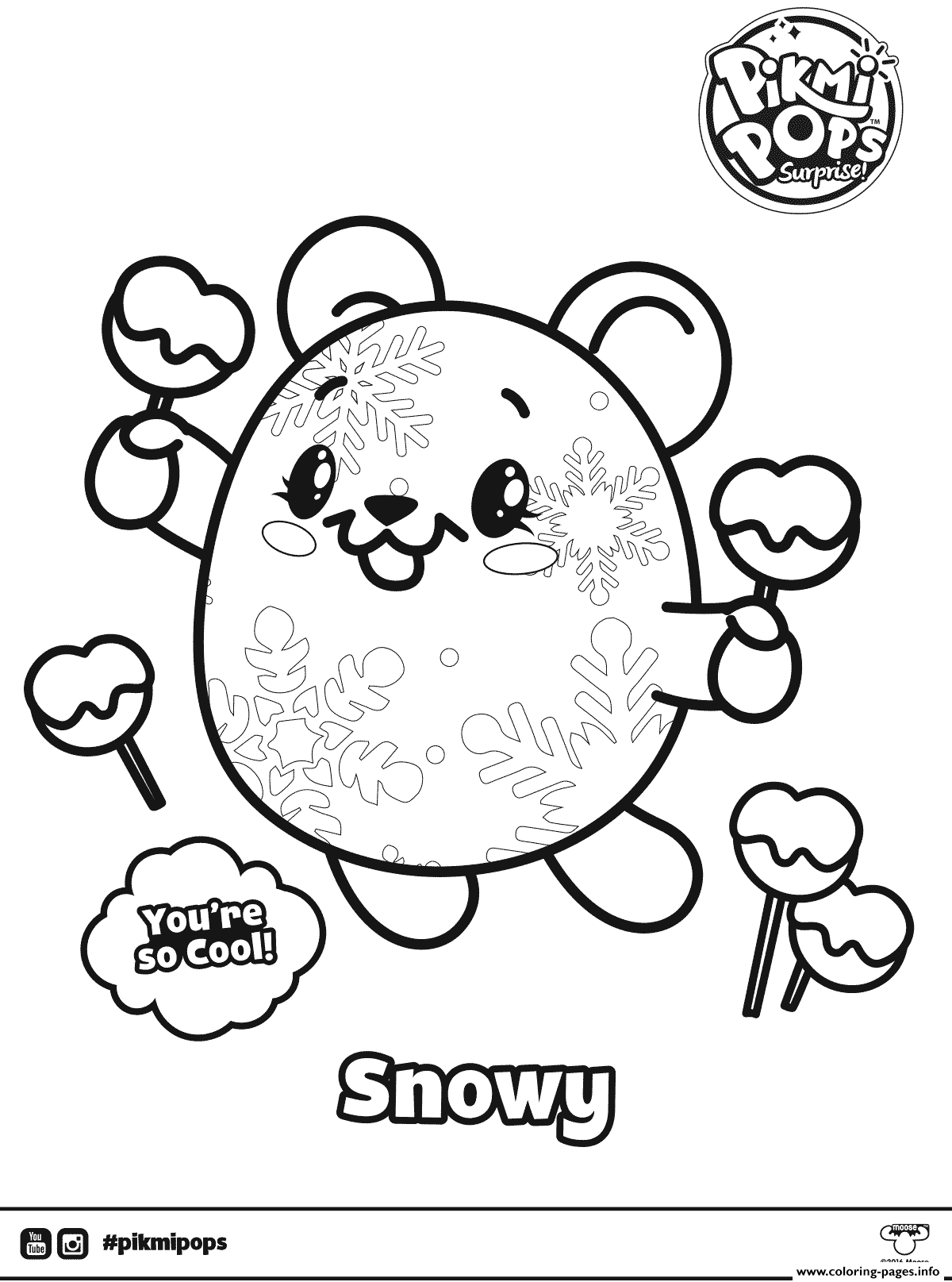 Pikmi Pops - Free Coloring Pages