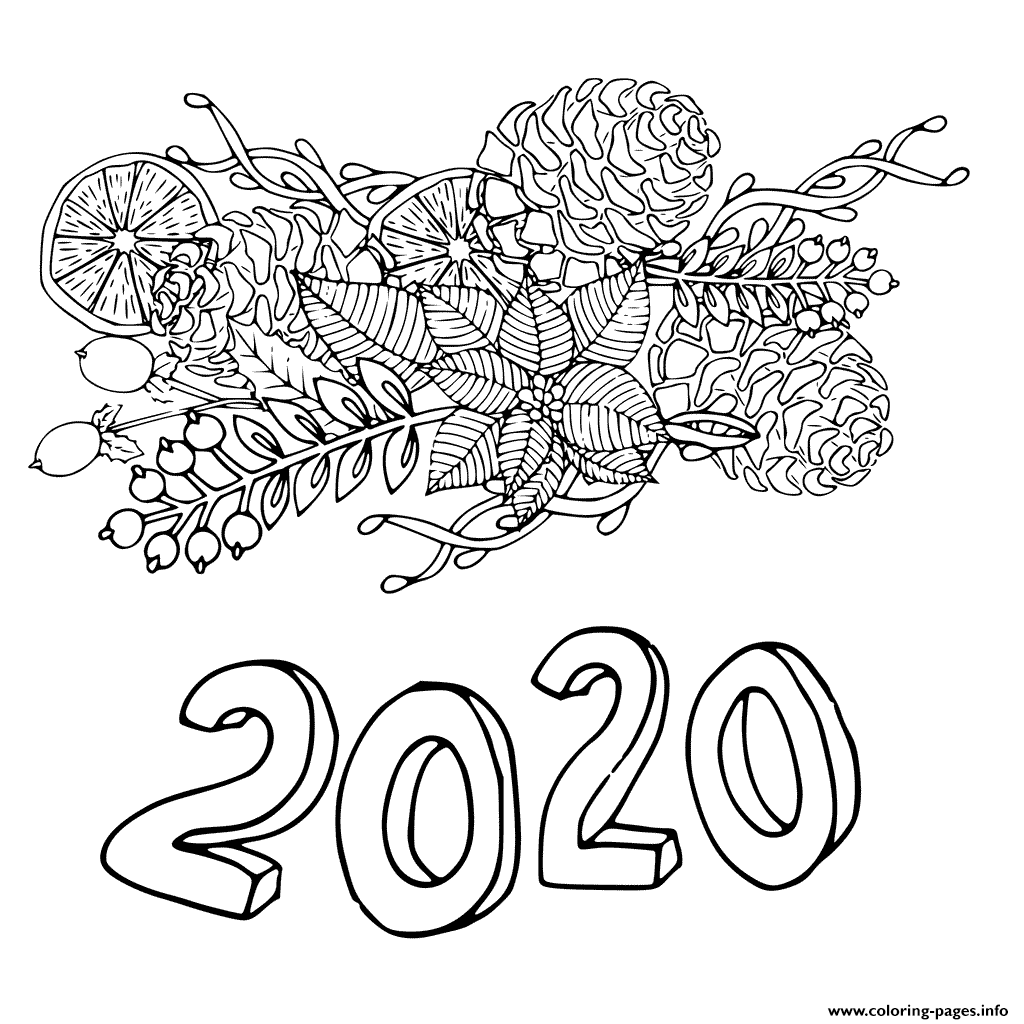 Christmas New Year Sheets coloring pages