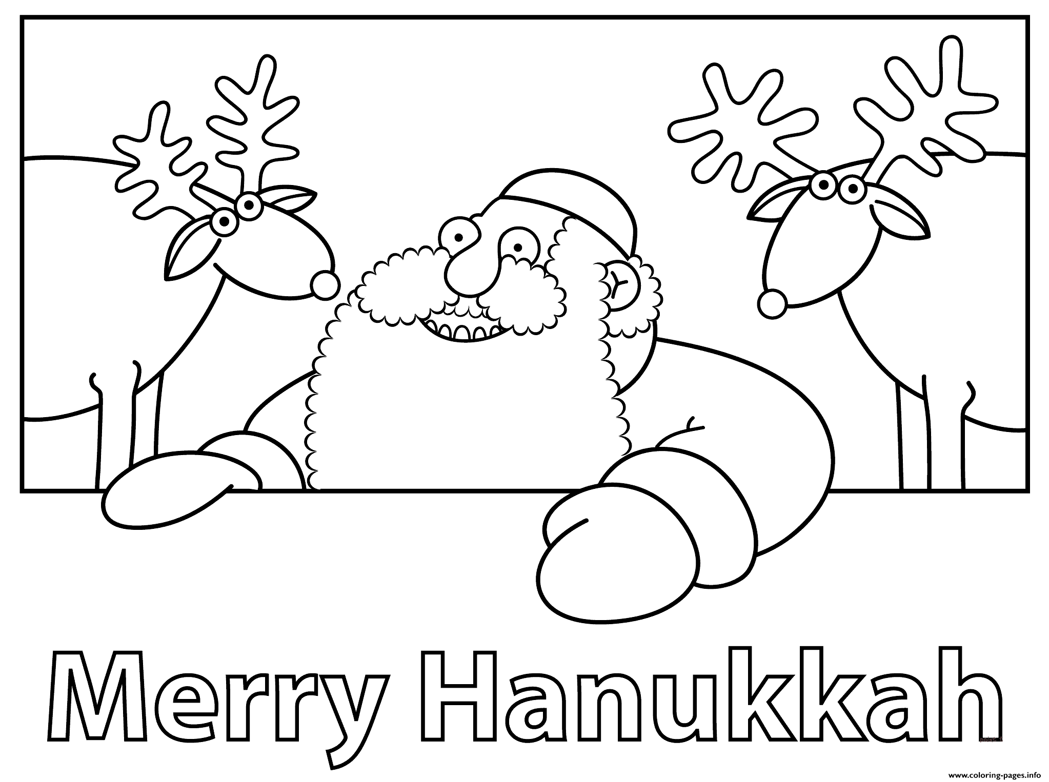 Merry Hanukkah Coloring Pages Printable