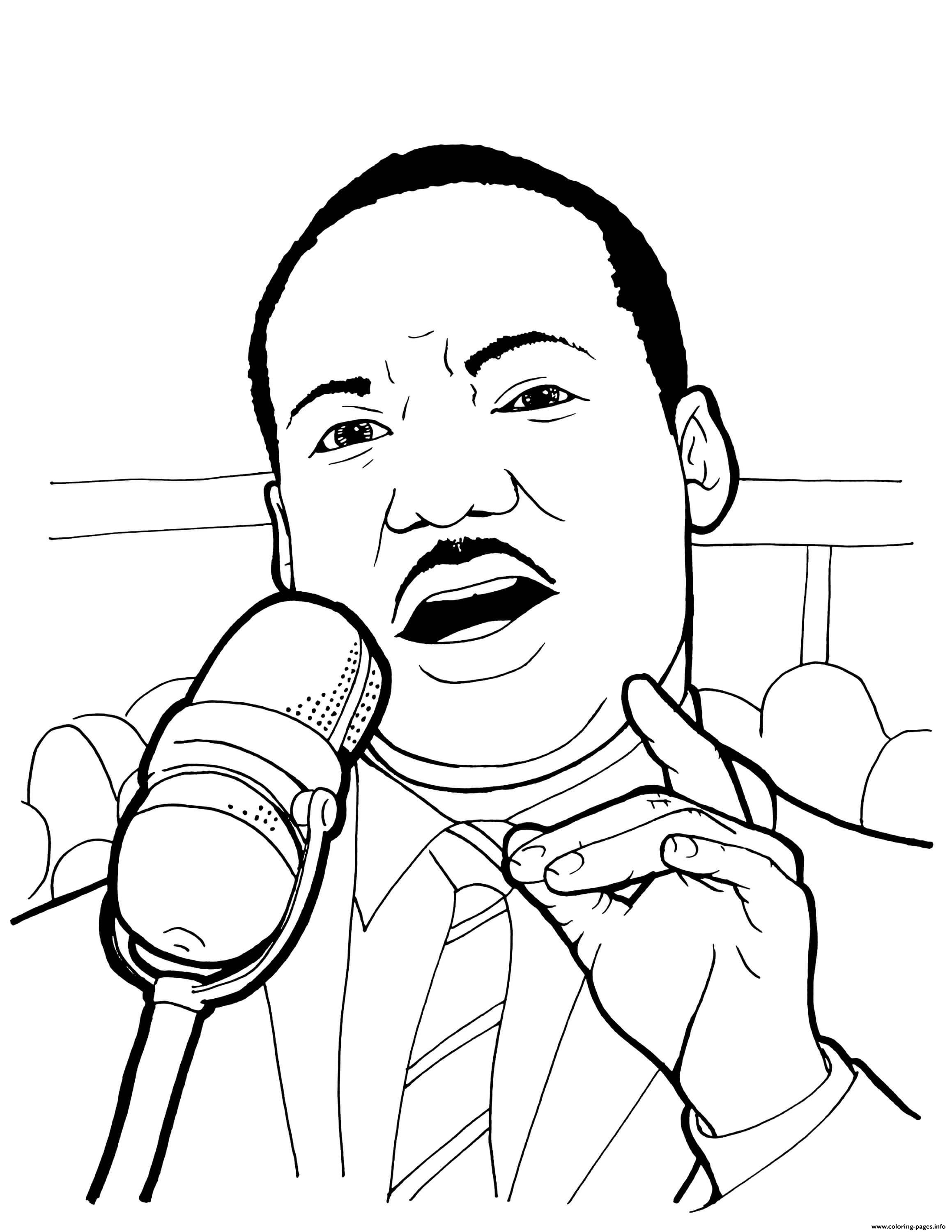 Martin Luther King Thrid Monday In January coloring pages