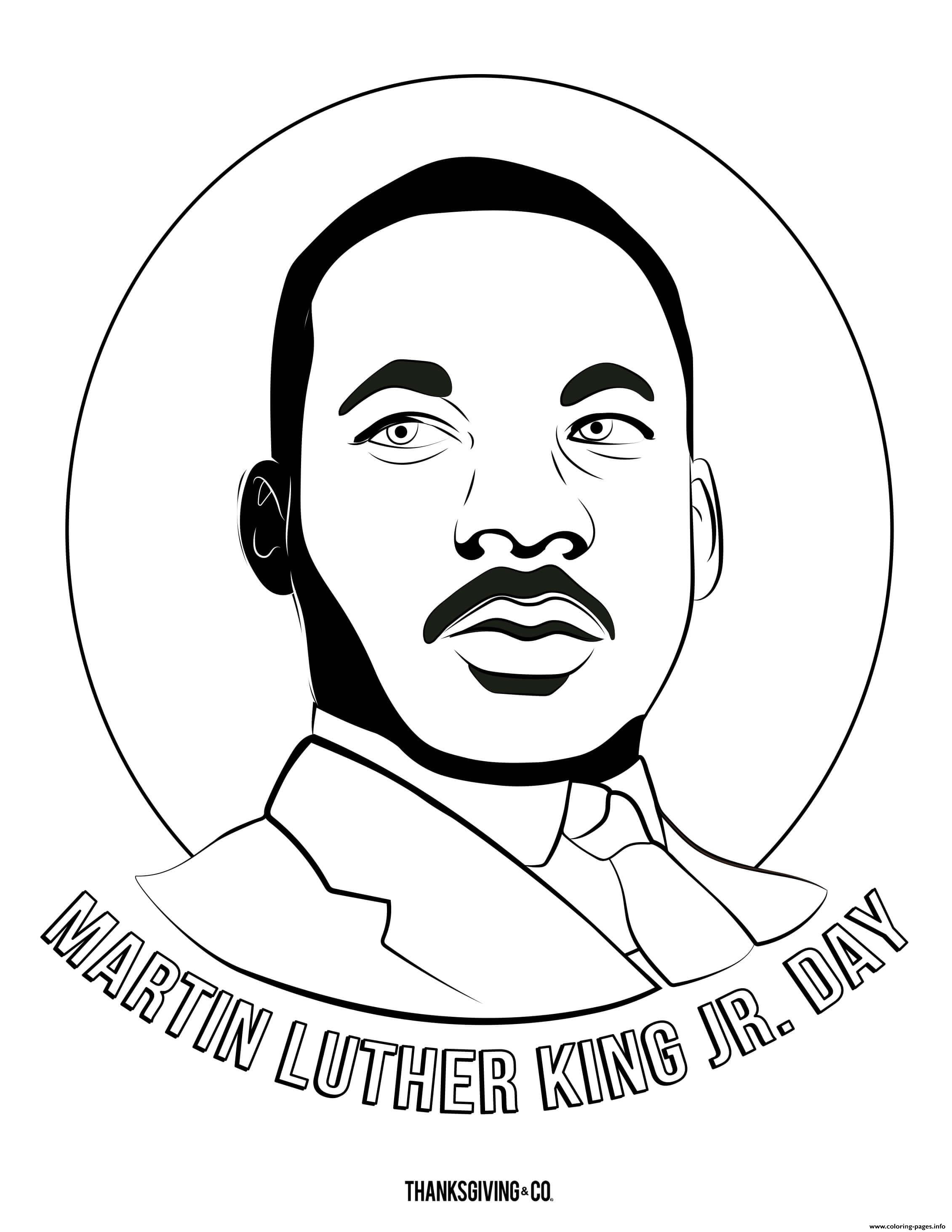 MLK Martin Luther King Jr Day coloring pages