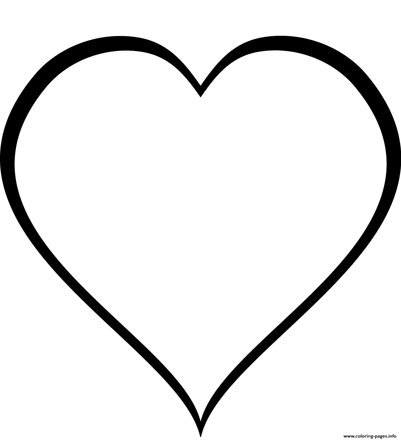 Simple Heart 3 coloring pages