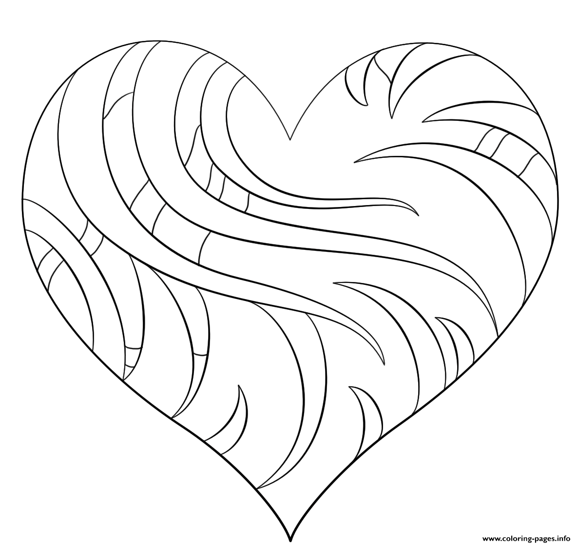Intricate Heart coloring pages