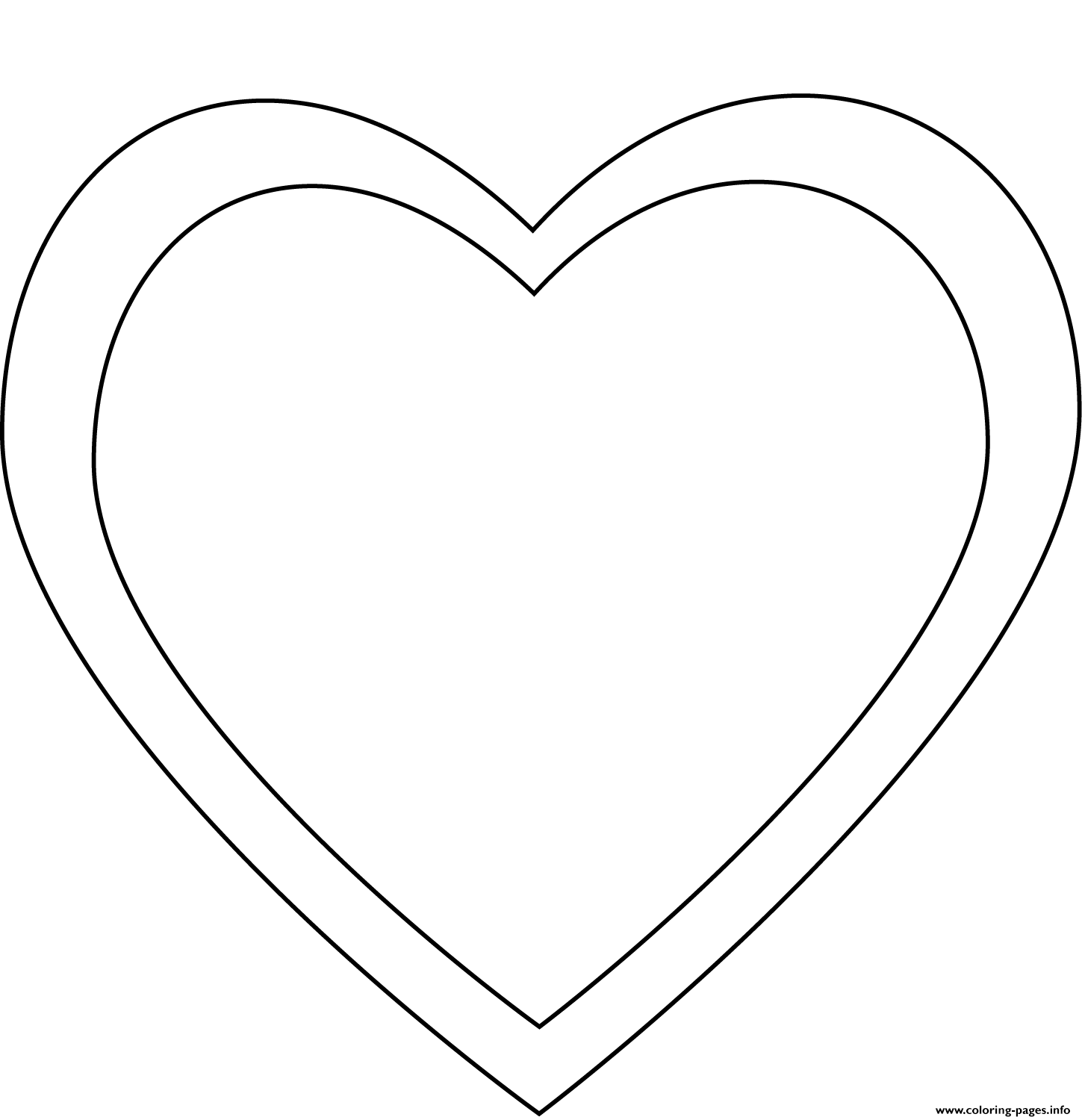 Simple Heart 4 coloring pages
