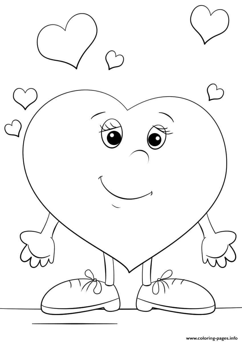 Heart Character coloring pages