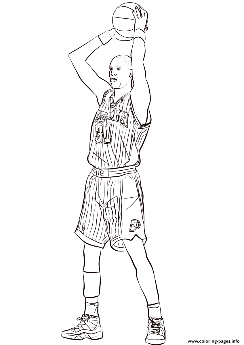 Reggie Miller coloring pages