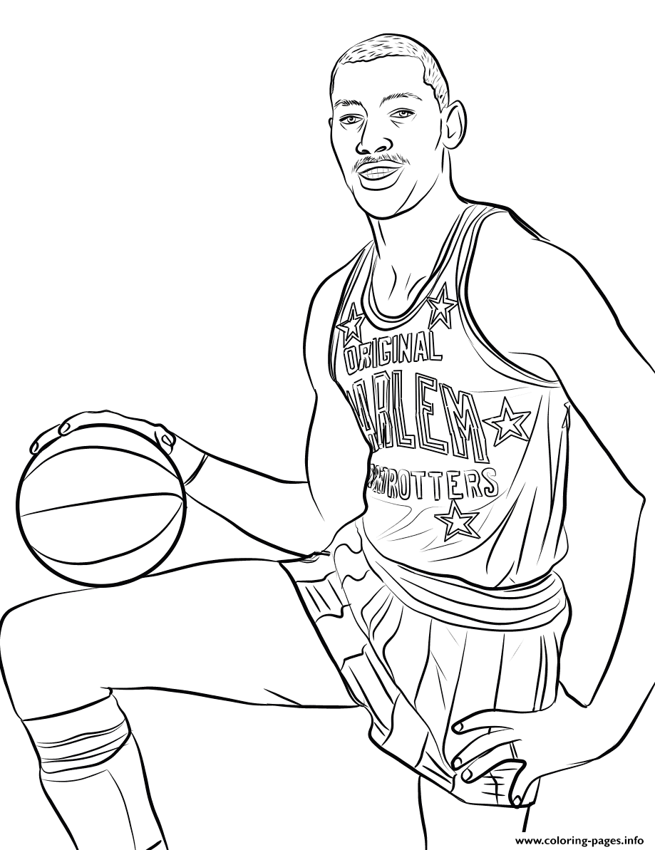 Wilt Chamberlain coloring pages
