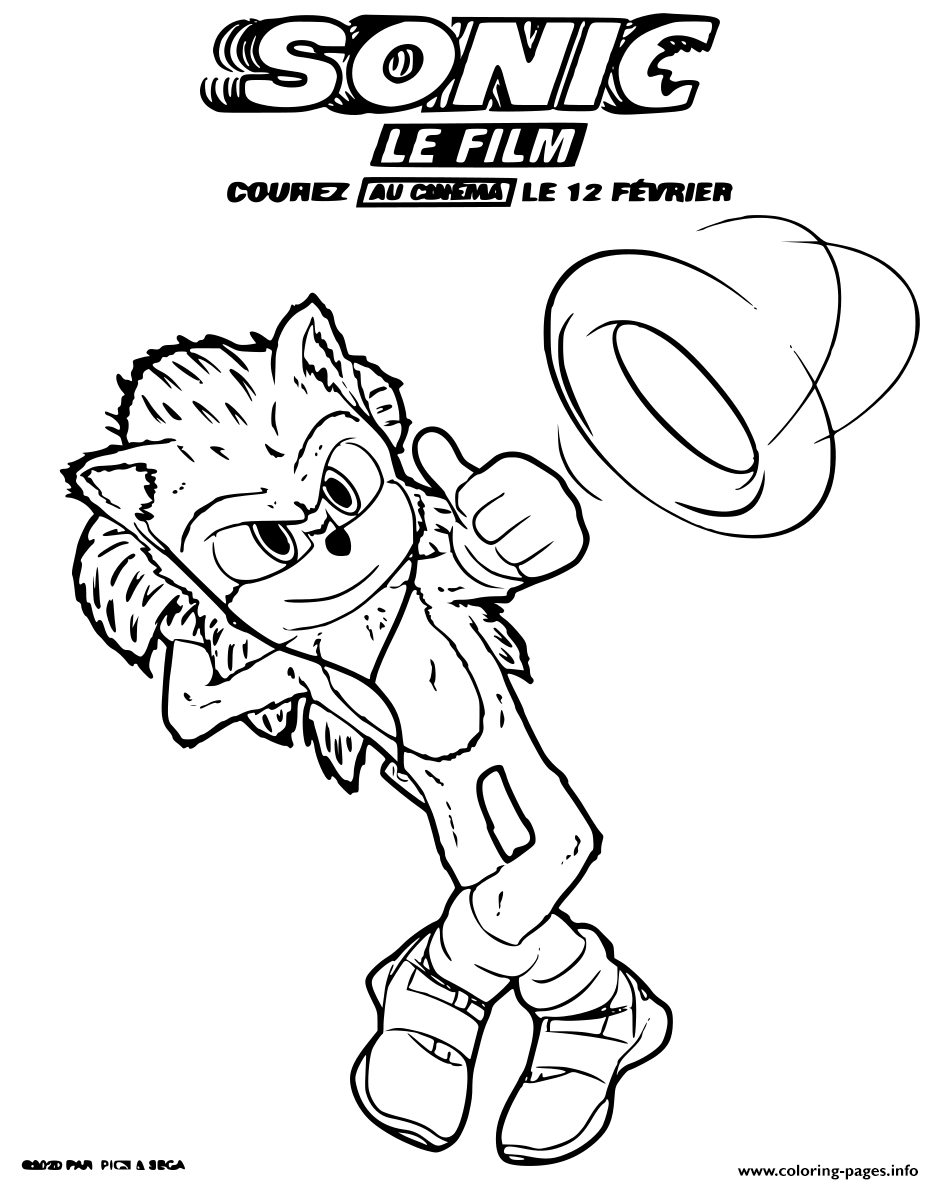 Sonic Based On The Global Blockbuster Videogame Franchise From Sega coloring pages