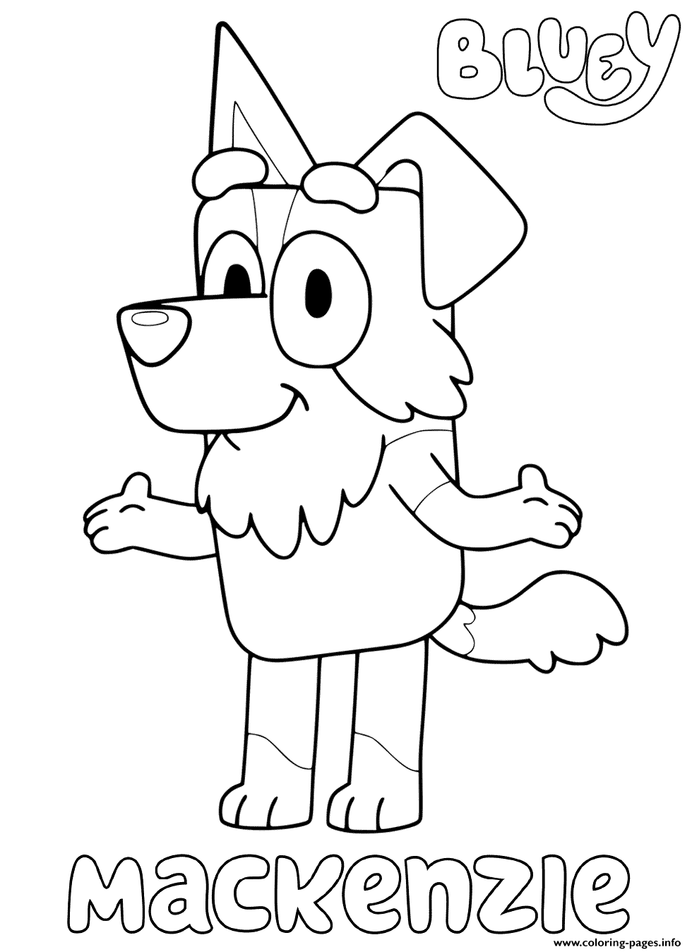 Mackenzie From Blueys coloring pages