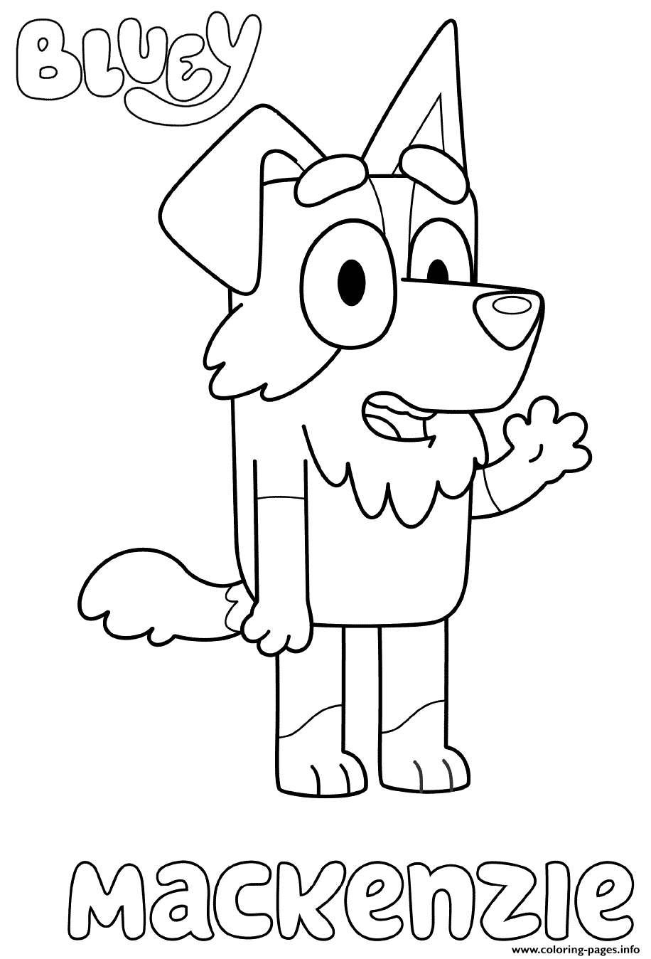Border Collie Mackenzie coloring pages