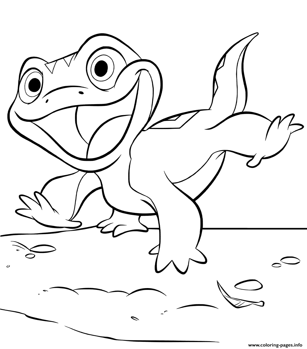Best Coloring Pages Site: Elsa And Lizard Bruni Frozen 2 ...