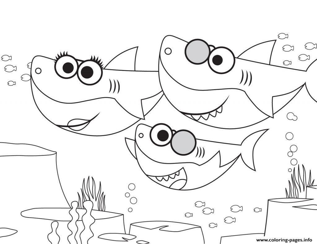Baby Shark Walking Around Coloring Pages Printable