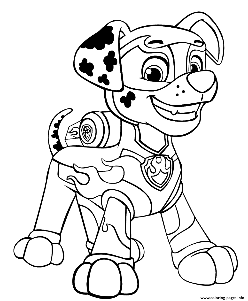 - PAW Patrol Mighty Pups Marshal For Boys Coloring Pages Printable