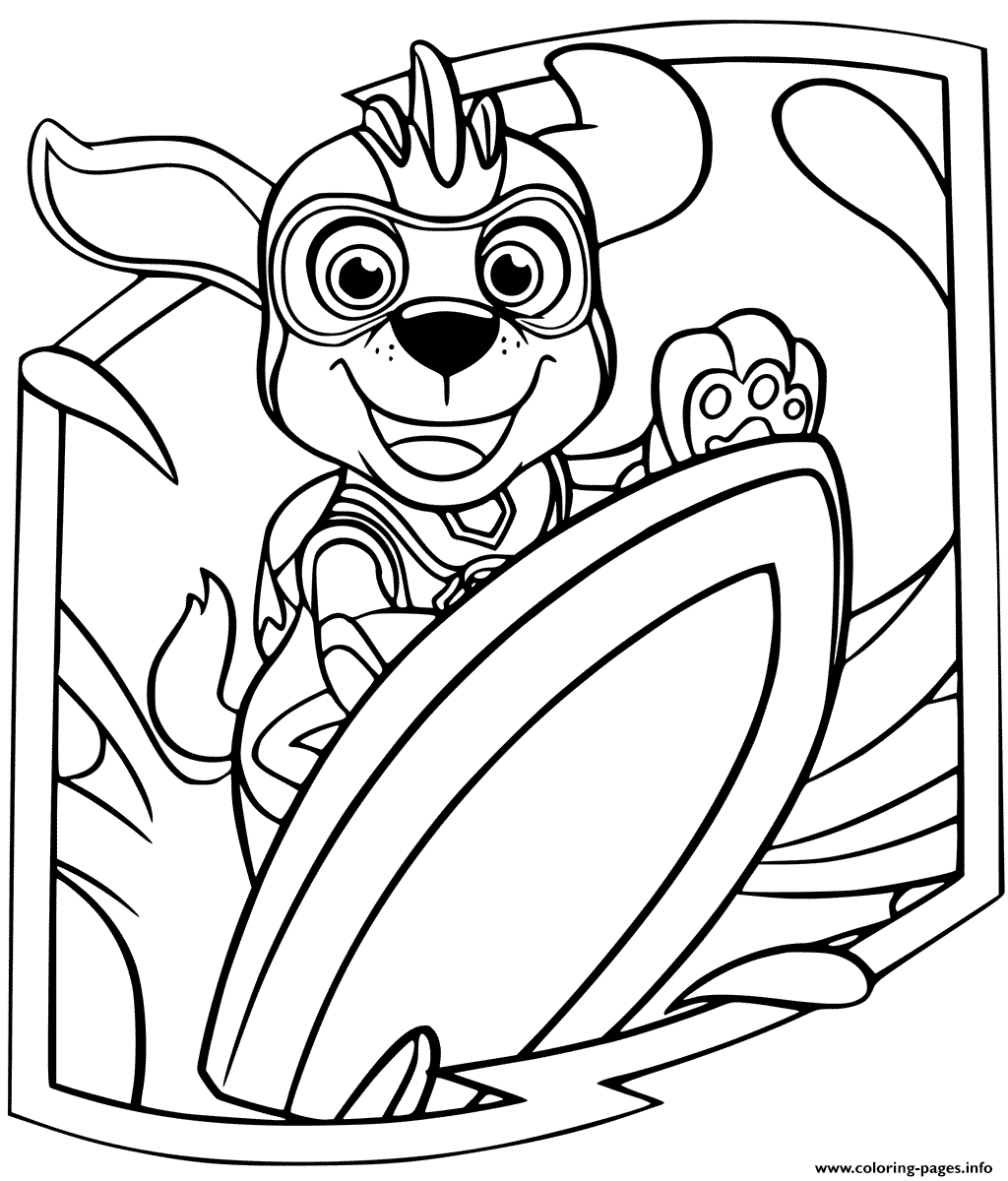 Zuma Mighty Pups Coloring Pages Printable