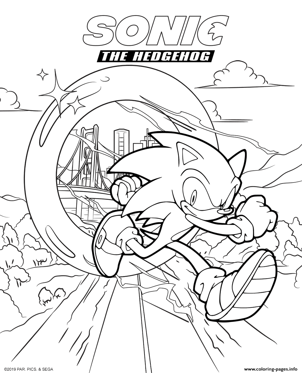 Sonic The Hedgehog Movie 2020 Coloring Pages Printable